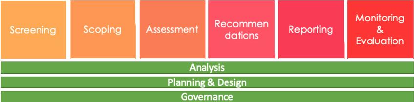 Diagram showing the HIA process